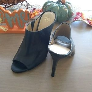 Ann Taylor leather mules sz 10